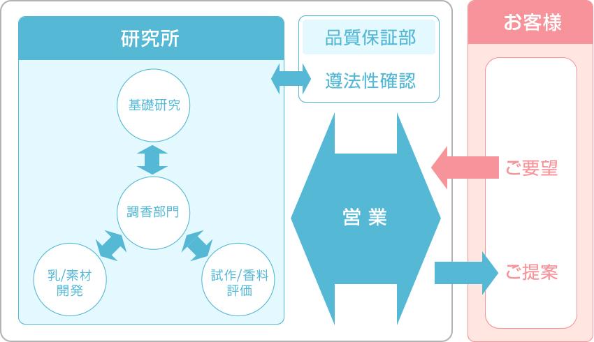 研究開発の体制図